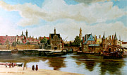 Henryk Paintings - The View of Delft by Henryk Gorecki
