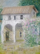 Villa Paintings - The Villa by Jules Grant-Field