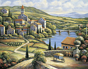 Zaccheo Metal Prints - The Village Metal Print by John Zaccheo