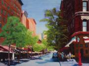 Greenwich Village Pastels - The Village by Marion Derrett