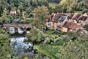Stone Bridge Prints - The Village Print by Olivier Le Queinec