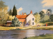 Locations Painting Prints - The Village Pond - Coleshill Buckinghamshire Print by Bill Holkham