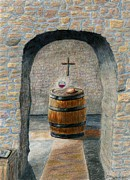 Cellar Drawings Prints - The Vinedressers Table Print by Terry Hall