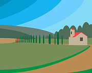 Vineyard Digital Art - The Vineyard by Adrian Hardcastle