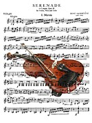 Music Score Digital Art Framed Prints - The Violin Framed Print by Ron Davidson
