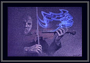 Thought Drawings - The VIOLINIST by Tony Nixon