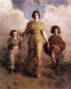 The Mother Digital Art Prints - The Virgin Print by Abbott Handerson Thayer