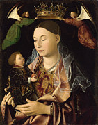 Famous Artists - The Virgin and Child by Antonello da Messina