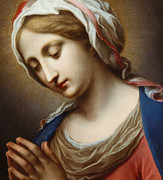 Annunciation Paintings - The Virgin Annunciate by Carlo Dolci