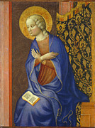 Virgin Mary Prints - The Virgin Annunciate Print by Tommaso Masolino da Panicale