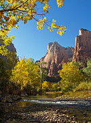 The Virgin River And The Court Of The Patriarchs Print by Alex Cassels