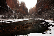 Spider Rock Art Framed Prints - The Virgin River Framed Print by Kenan Sipilovic