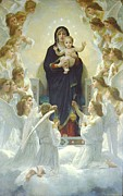 The Virgin With Angels Print by Botticelli