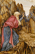 Elderly Paintings - The Vision of Ezekiel The Valley of Dry Bones by John Roddam Spencer Stanhope