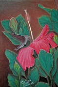 Hummingbird Pastels - The Visitor by Charito ChatRose Mahilum