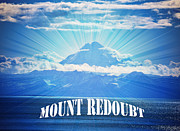Kenai Peninsula Prints - The Volcano MT Redoubt Print by Debra  Miller