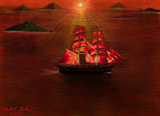 Adventure Digital Art Originals - The Voyage by Michael Rucker