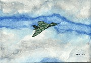 Vulcan Paintings - The Vulcan Bomber by John Williams