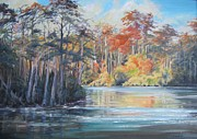 Water Scenes Painting Prints - The Waccamaw at Bucksport Print by Sharon Sorrels