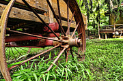 Country Living Framed Prints - The Wagon Wheel Framed Print by Paul Ward