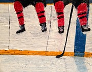 Hockey Painting Originals - The Wait by Desmond Raymond
