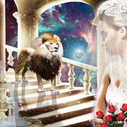 Lion Of Judah Posters - The Waiting Bride Poster by Dolores DeVelde