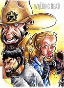 Caricature Mixed Media - The Walking Dead by Big Mike Roate