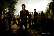 Pen Digital Art - The Walking Dead by Gabriel T Toro