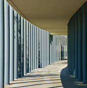Mhs Posters - The walkway in the columns Poster by Mark Dodd
