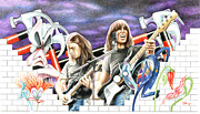 Pink Floyd Drawings Posters - The Wall Poster by Jonathan Brown