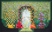 Garden Tapestries - Textiles Originals - The Walled Garden by Christina Hauswald