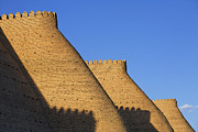Ark Prints - The walls of the Ark at Bukhara in Uzbekistan Print by Robert Preston