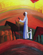 New Testament Painting Originals - The Wandering Mary Magdalene by Israel Tsvaygenbaum