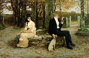 Married Paintings - The Waning Honeymoon by GH Boughton