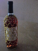 Images Of Wine Bottles Art - The Warm Glow of a Chilled Wine by Guy Ricketts