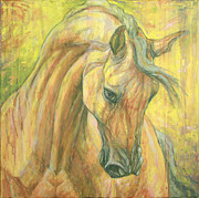 Bay Horse Metal Prints - The warm-up Metal Print by Silvana Gabudean