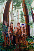 Swordsman Prints - The Warriors Print by Gail Daley
