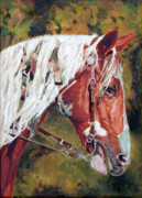 Show Horse Paintings - The Warriors Horse by Enzie Shahmiri