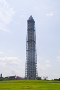 Cage Digital Art - The Washington Monument in a Cage by Bill Cannon