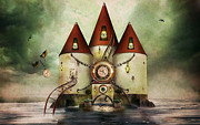 Watch Mixed Media - The Watch Tower by Alan Thompson