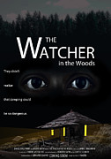 Watching The Movies Prints - THE WATCHER in the WOODS Print by Daniel Hagerman