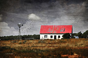 Photomanipulation Photo Prints - The Watcher Print by Karen Slagle