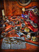Watchmaker Photos - The watchmakers Desk by Lee Dos Santos