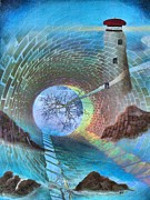 Sunny Mixed Media - The Watchtower by Tom Druin