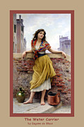 Blaas Prints - The Water Carrier Poster Print by Eugene de Blaas
