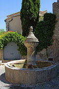 Provence Village Prints - The water fountain Print by John Stuart Webbstock