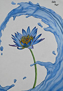 Blend Drawings Framed Prints - The Water Lily Framed Print by Holly Hunt