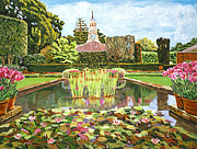 Terra Cotta Paintings - The Water Lily Pond by David Lloyd Glover