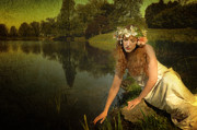 Pre-raphaelites Photo Metal Prints - The Water Maiden Metal Print by Dick Wood