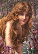Nude Child Art Prints - The Water Nymph Print by Henry Ryland